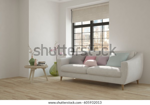 Awesome White Room Sofa Winter Landscape Window Stock Illustration Gmtry Best Dining Table And Chair Ideas Images Gmtryco