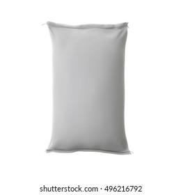 White sack or bag isolate on white background. 3D Render