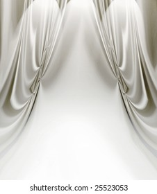 White Satin Drapes