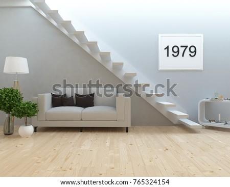 Royalty Free Stock Illustration Of White Scandinavian Room Interior