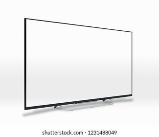 White screen TV. 3D rendering