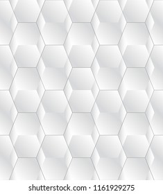 White seamless geometric texture. Stylish pattern and tile for your design. Geometric background.
