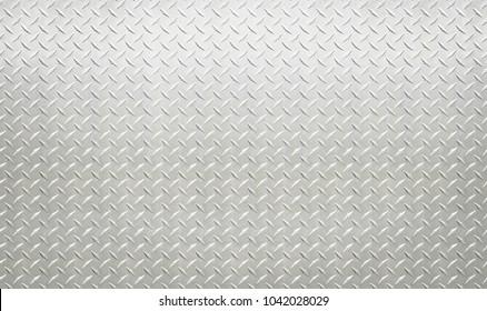 White silver industrial wall diamond steel pattern background