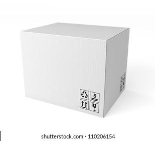 white single cardboard box
