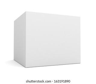 white single product box