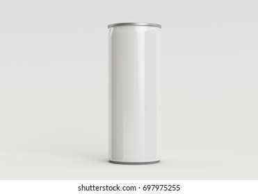 White Single Soda Can 3D Illustration
