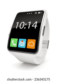 White Smart watch on white background