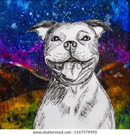 white-smiling-staffy-dog-drawing-450w-11