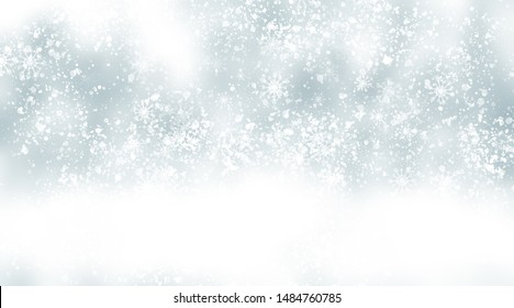 white snow blur abstract background. Bokeh Christmas blurred beautiful shiny Christmas lights