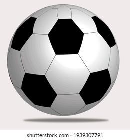 White soccer ball for soccer game recreation
