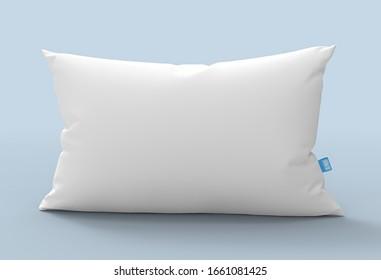 White Soft Blank Pillow for Mock Up 3D Rendering