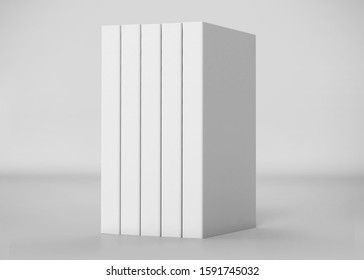 White Soft Cover Book Mockup, 3D Rendered on light gray background