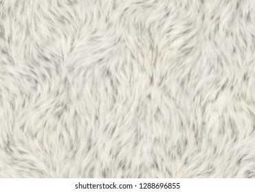 white soft fleece shaggy skin pelt
