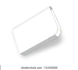 White Software Box Mockup for Design Project - Mock Up 3D illustration Isolate on White Background