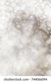 White sparkles. Christmas background
