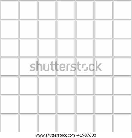 White Square Seamless Ceramic Tiles Texture