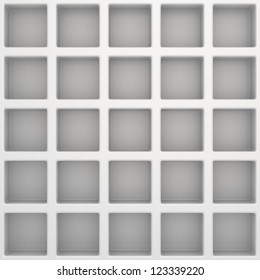 White square template, 3d computer graphic