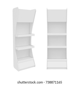 white stand isolated on white background, 3D rendering