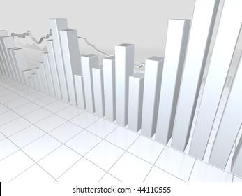 White Stock Market Graphs