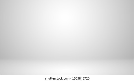 White studio with soft lighting on the wall and floor.