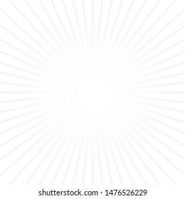 White sun rays on white background. Popular Star burst. Vitage style