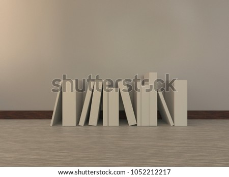 white template books on floor empty stock illustration 1052212217
