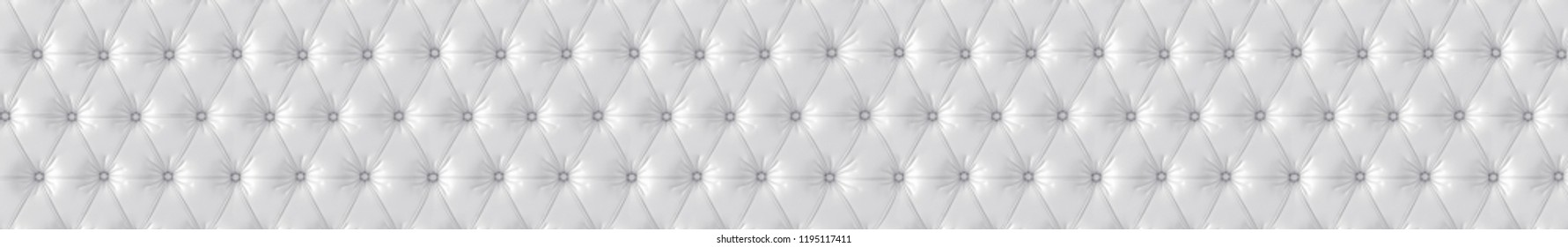 White texture of a fabric chester. Gorizontal panoramic view for kithen panel skinali. 3d rendering