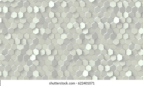 White texture pattern consisting of little hexagons.