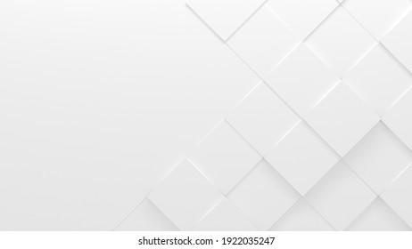 Arrière-Plan Business Style Carrelé Blanc (Illustration 3D)