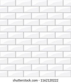white tiles background for your design, stock illustration