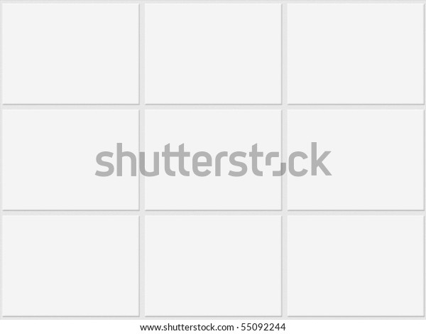 White tiles wall and floor texture