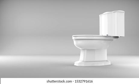 White toilet White toilet bowl closedbowl closed