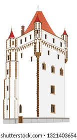 The White Tower is part of the castle of Hradec nad Moravicí and dates from the late 19th century. It served as a reservoir for the lock, all its parts and its surroundings.