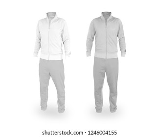 White track suit. 3D rendering