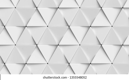 White triangle ceramic tiles placed randomly with light and shadow effect. High quality seamless realistic texture.
