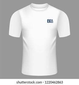 White tshirt icon. Realistic illustration of white tshirt icon for web design