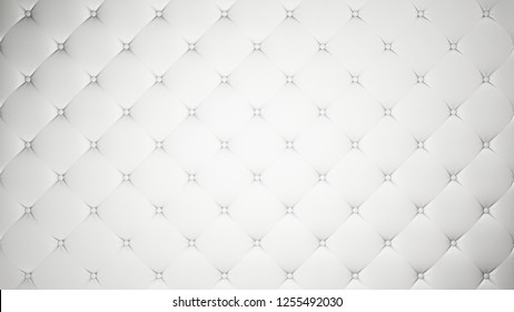 White upholstery. Leather or silk background. Capitone. High resolution.