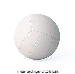 White Volleyball , isolated on a white background , 3d render