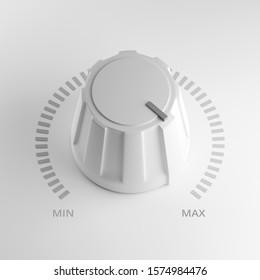 Pomo de volumen blanco en el máximo, 3d representaciones