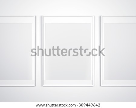 84609f99d8a White Wall Blank Frames Stock Illustration - Royalty Free Stock ...