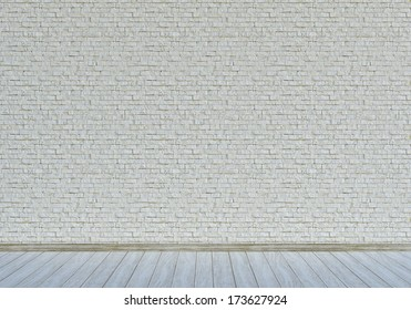 White wall with bricks