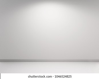 White wall with concrete plastering. White backround template. 3d rendering illustration.