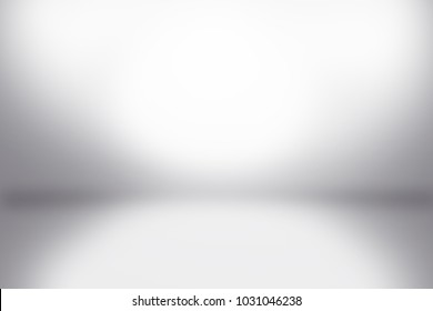White wall in white room background with dark and light on studio showcase wall and floor texture abstract illustration interior blurred background, empty space, can use for display your products