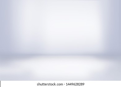 White wall in white room studio template background gardient light interior , empty space for interior design, can use for your products display