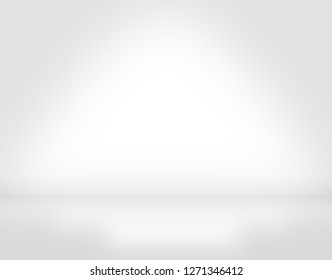 White wall studio gradient showcase in white room background with light on wall and floor texture abstract illustration interior blurred background, empty space, can use for display your products