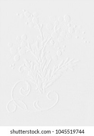 White wallpaper, bunch of flowers, background, vintage motif