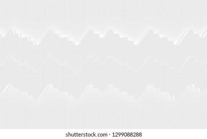 White Wavy Tiled Background (3D Illustration)