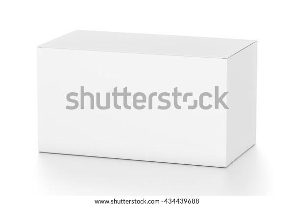 Weißes breites, horizontales Rechteck, leeres Feld aus oberem Seitenwinkel. 3D-Illustration einzeln auf weißem Hintergrund.