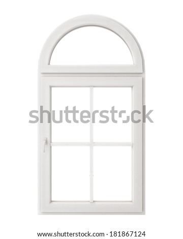White Window Frame Isolated On White Stock Illustration 181867124 ...