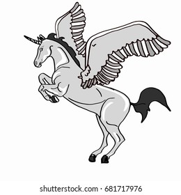 white winged unicorn